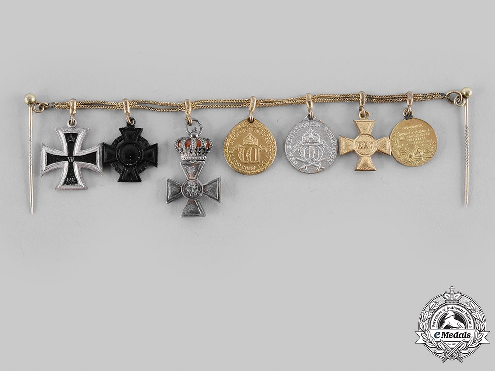 Germany, Imperial. A Miniature Decoration Chain Attributed to Rear Admiral Otto Mandt