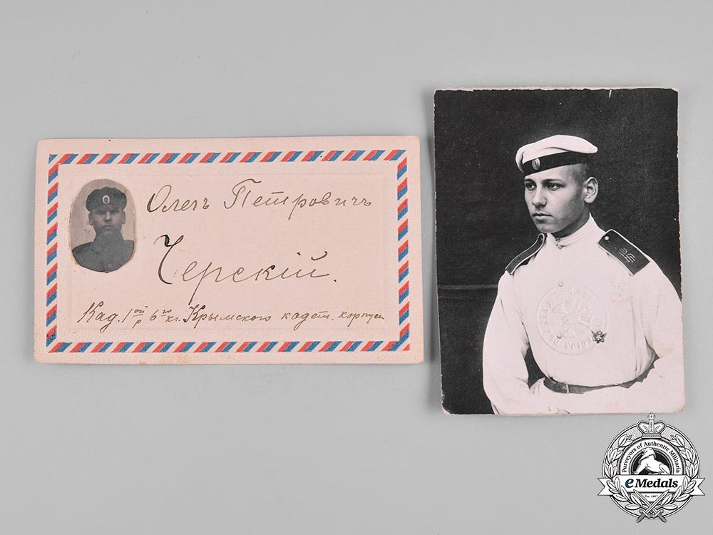 Russia, Imperial. A POW Case & Photographs to White Army Émigré Oleg Cersky