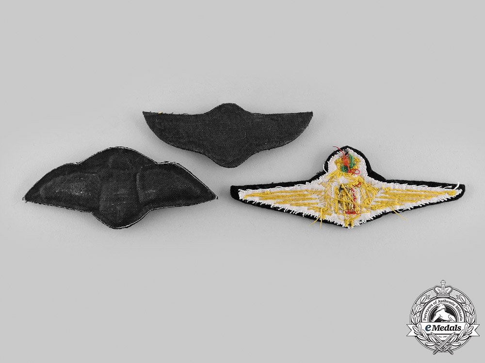 International. A Lot of Three Air Force Pilot Badges