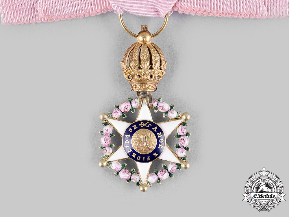 Brazil, Independent Empire. An Order of the Rose in Gold, Dame's Star, c.1870