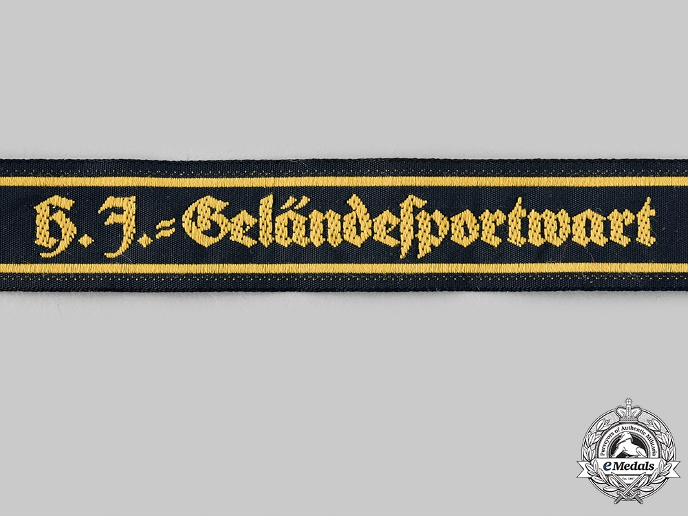 Germany, HJ. A HJ Field Event Attendant's Cuff Title