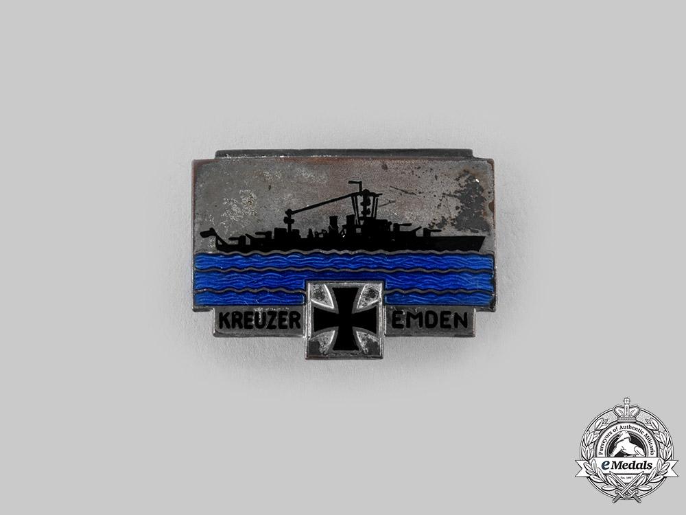 "Germany, Kriegsmarine. A Cruiser ""Emden"" Commemorative Badge, by Ferdinand Wagner"