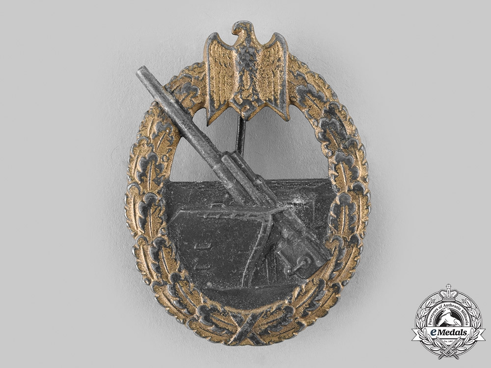 Germany, Kriegsmarine. A Coastal Artillery War Badge, by Friedrich Linden