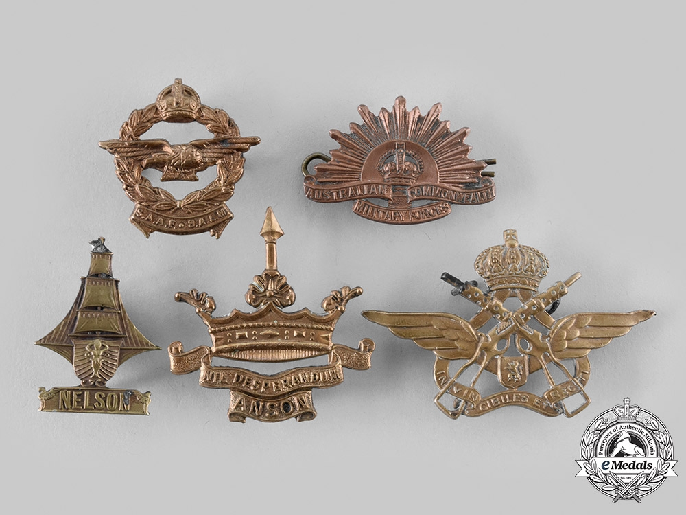 United Kingdom, Belgium, Australia, South Africa. A Lot of Five Badges