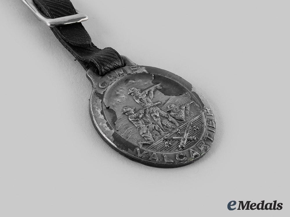 Canada, Dominion. A First War Valcartier Camp Medal 1914