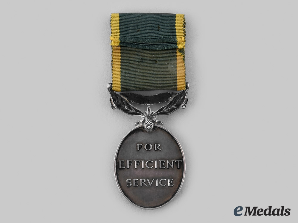 Canada, Commonwealth. An Efficiency Medal, to Trooper A. Durocher, 6 H (Armoured Corps)