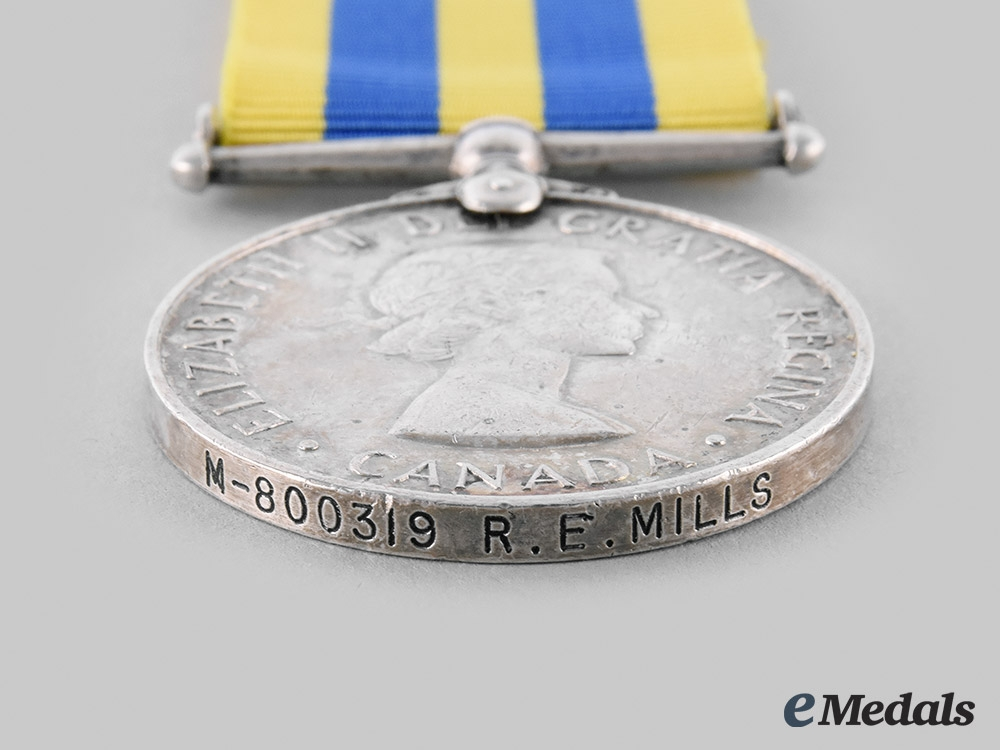 Canada, Commonwealth. A Korea Medal 1950-1953, to R.E. Mills