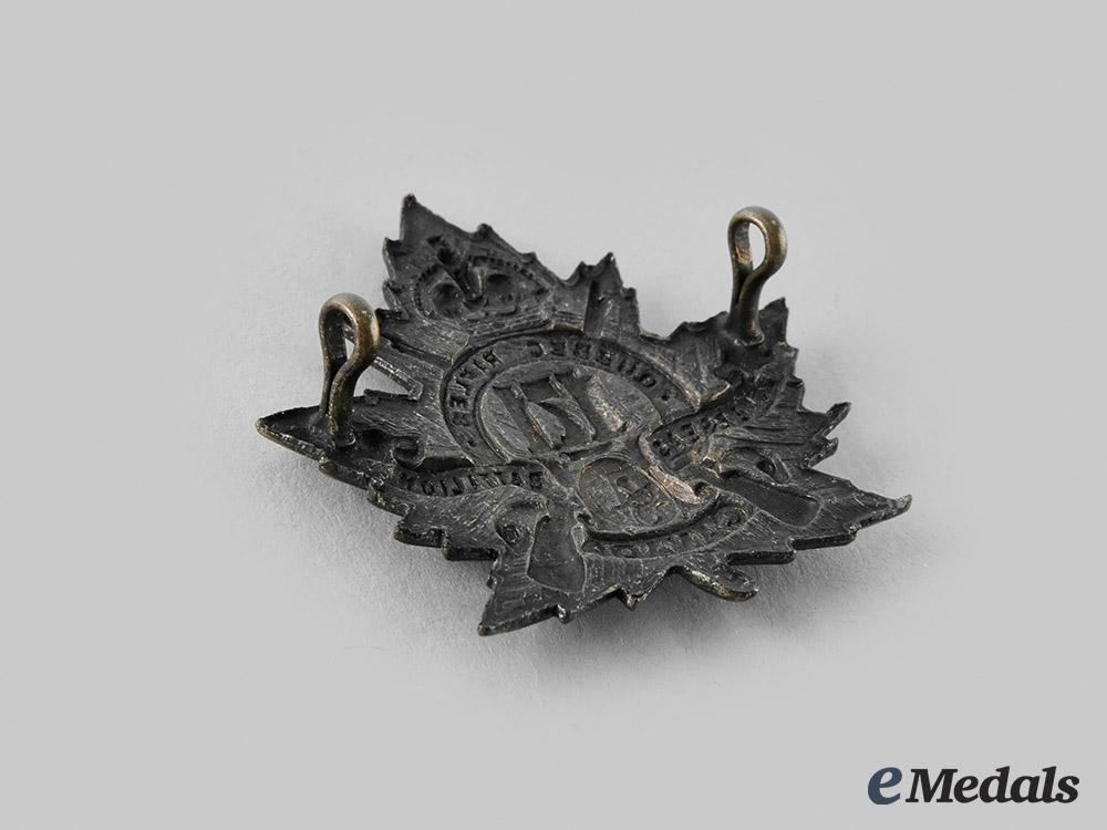"Canada, CEF. A 171st Infantry Battalion ""The Quebec Rifles"" Cap Badge"