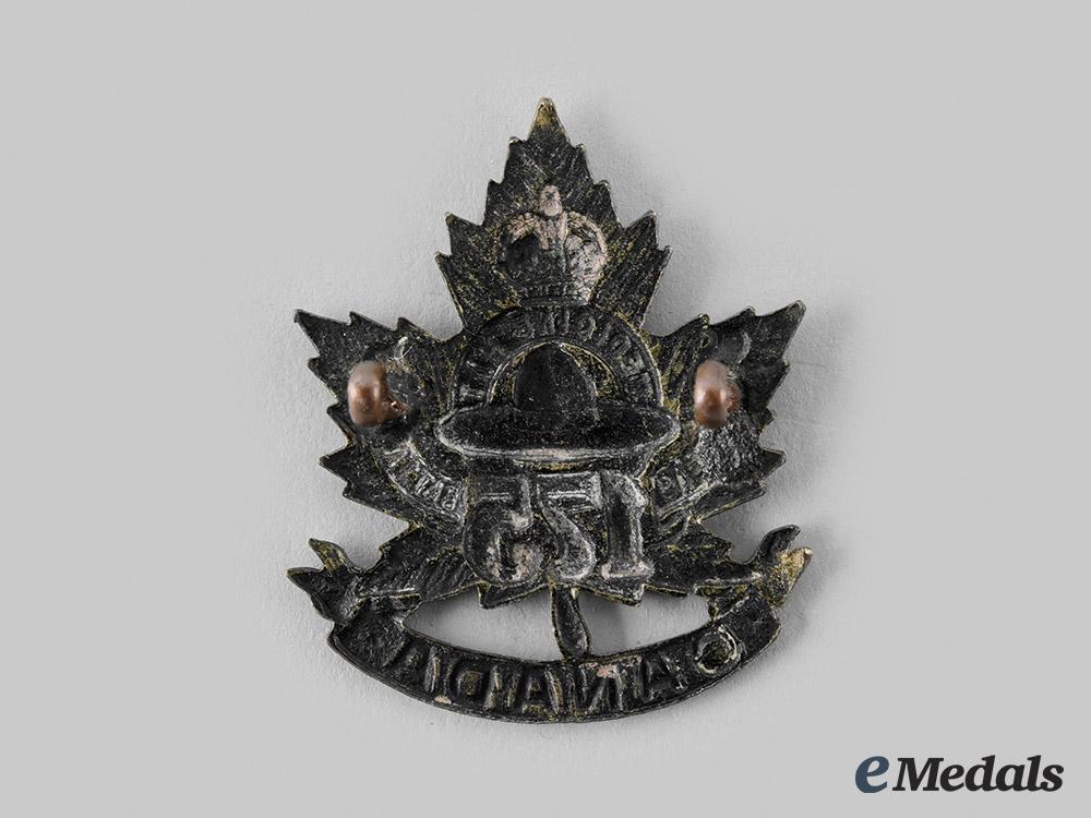 "Canada, CEF. A 175th Infantry Battalion ""Medicine Hat Battalion"" Cap Badge,"