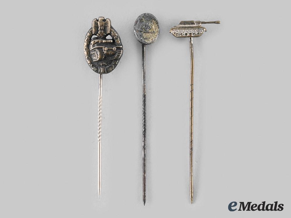 Germany, Wehrmacht. A Lot of Miniature Award Stickpins