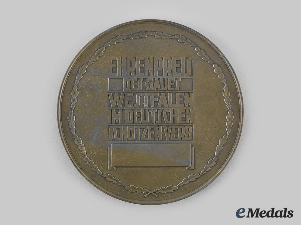 Germany, Third Reich. A German Shooting Association Victor's Medal, with Case