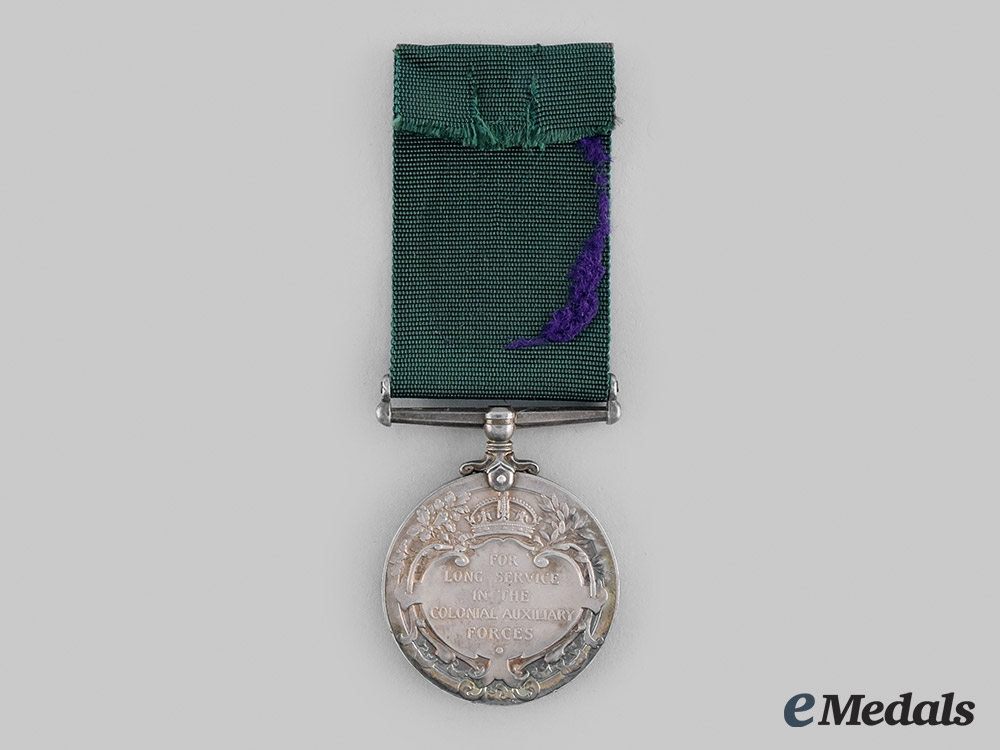 United Kingdom. A Colonial Auxiliary Forces Long Service Medal