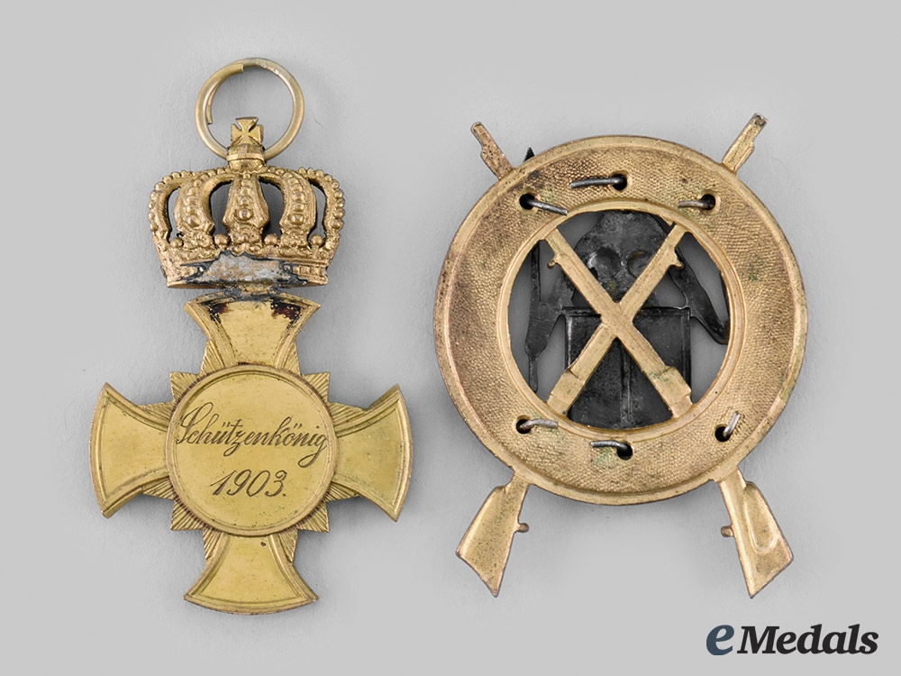 Prussia, Kingdom. A Pair of Prussian Shooting Awards