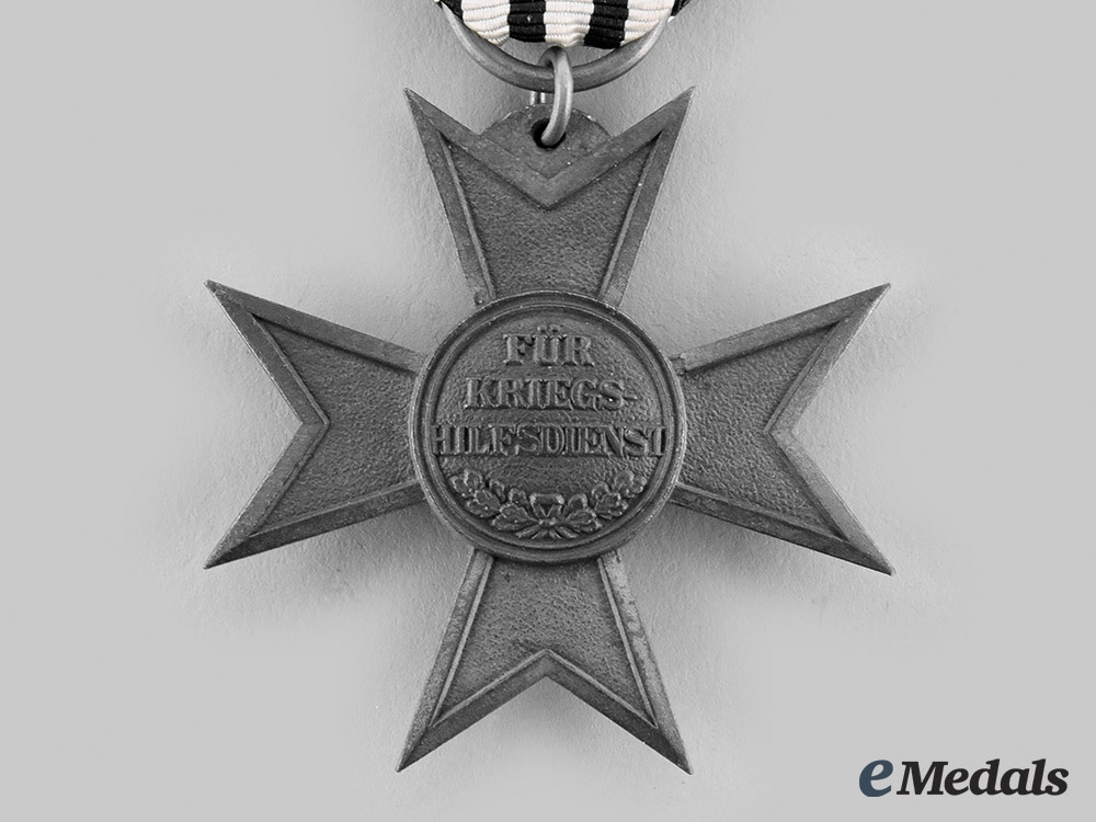 Prussia, Imperial. A Merit Cross for War Aid with Document to Johannes Werner