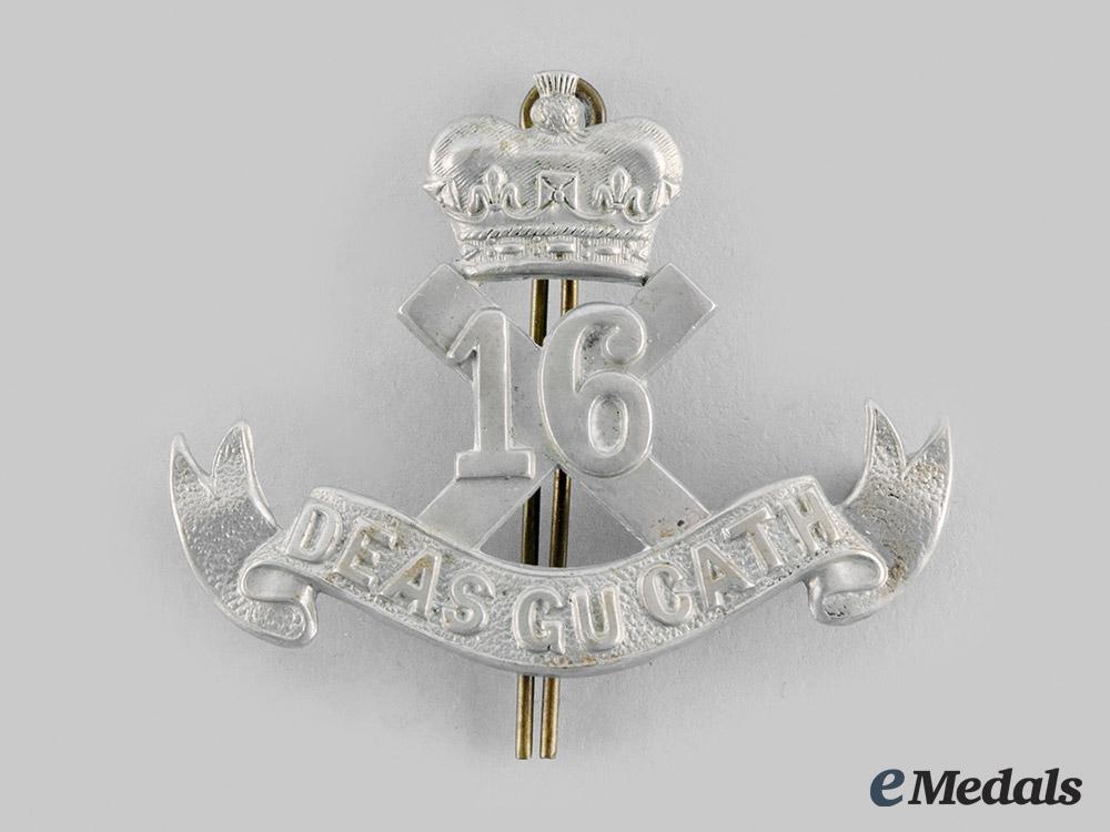 "Canada, CEF. A 16th Infantry Battalion ""Canadian Scottish"" Cap Badge"