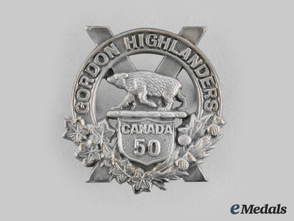 Canada, CEF. A 50th Regiment (Gordon Highlanders of Canada) Officer's Sporran Badge c. 1914-1920