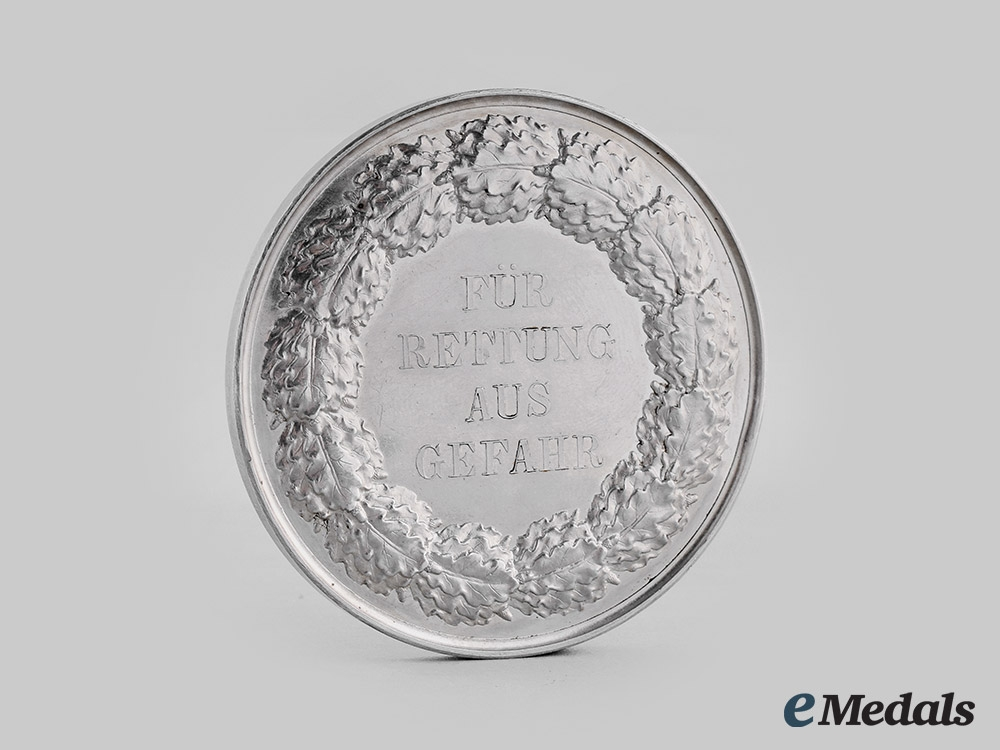 Prussia, Kingdom. A Medal for Rescue from Danger, Type III