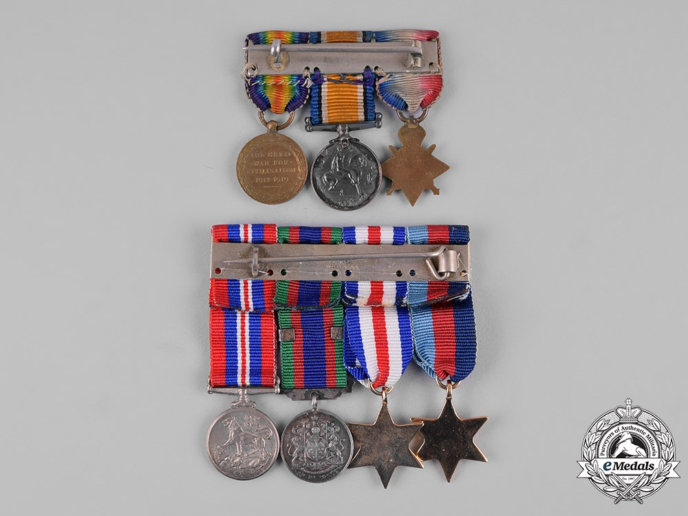 United Kingdom, Canada. A Lot of Seven First and Second War Miniature Awards