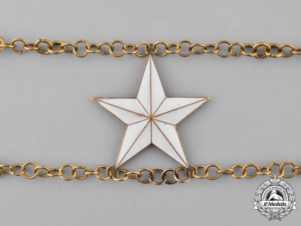 Sweden, Kingdom. An Order of the North Star, Commander Grand Cross Collar Chain