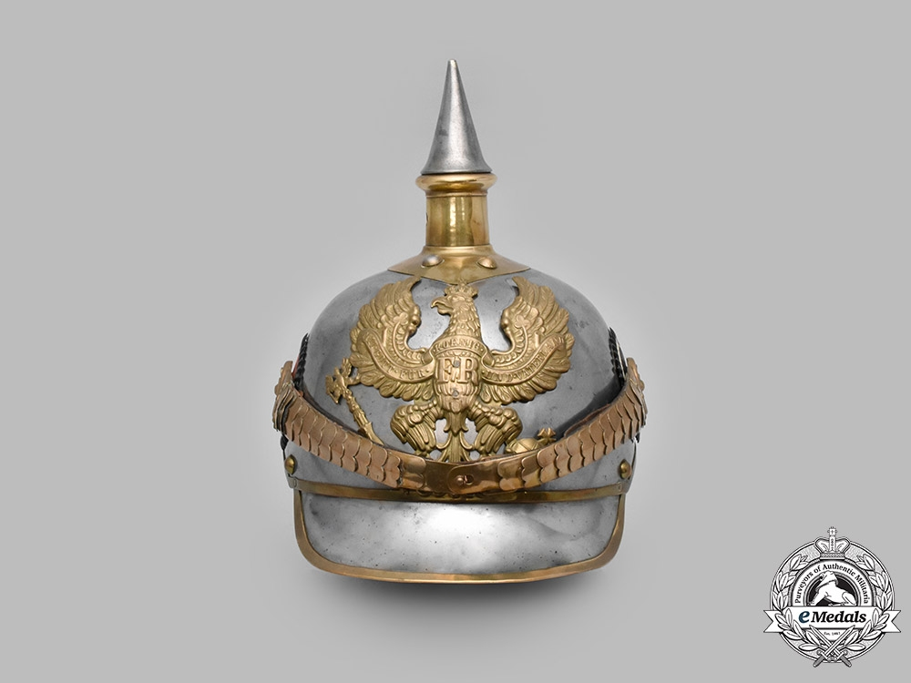 Prussia, Kingdom. An M1897 Kürassier Metal Helmet, III Squadron of Regiment No. 7