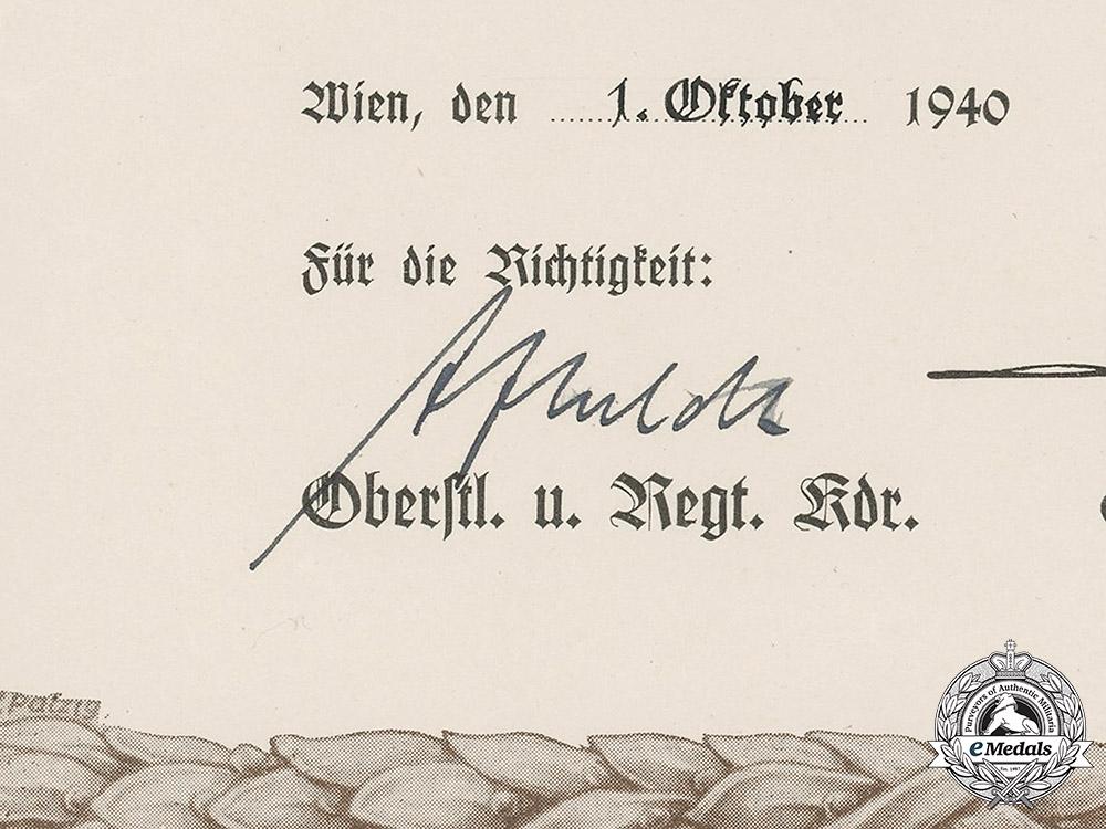 "Germany, Luftwaffe. A Rare Female Auxiliary ""Flugmeldehelferin"" Sudetenland Participation Document"