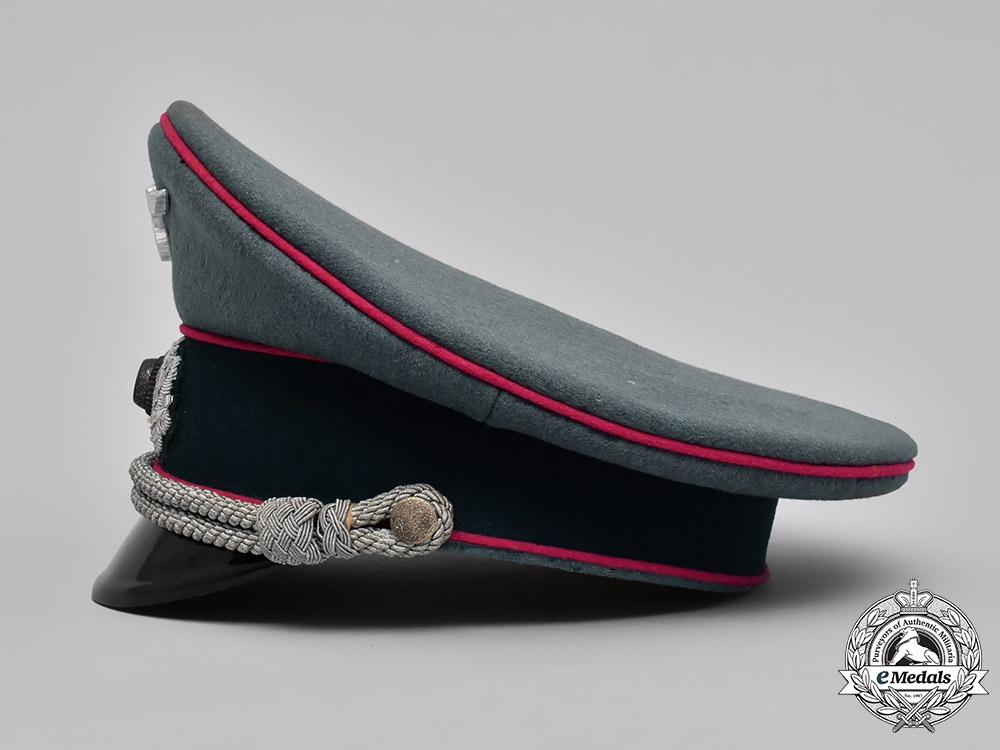 Germany, Wehrmacht. A Veterinarian Officer's Visor Cap, by Mitzlaff & Bliedung, Named