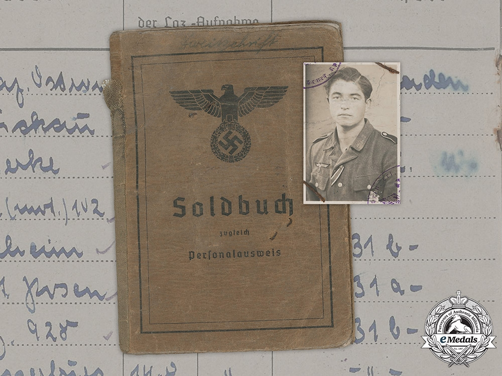 Germany, Heer. A Soldbuch to Obergefreiten Herbert Gronow, 100th Jäger Division
