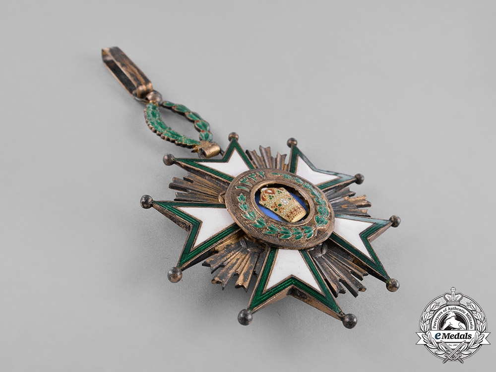 Iran, Qajar Dynasty. An Order of the Crown, II Class Grand Officer, by Arthus Bertrand, c.1920