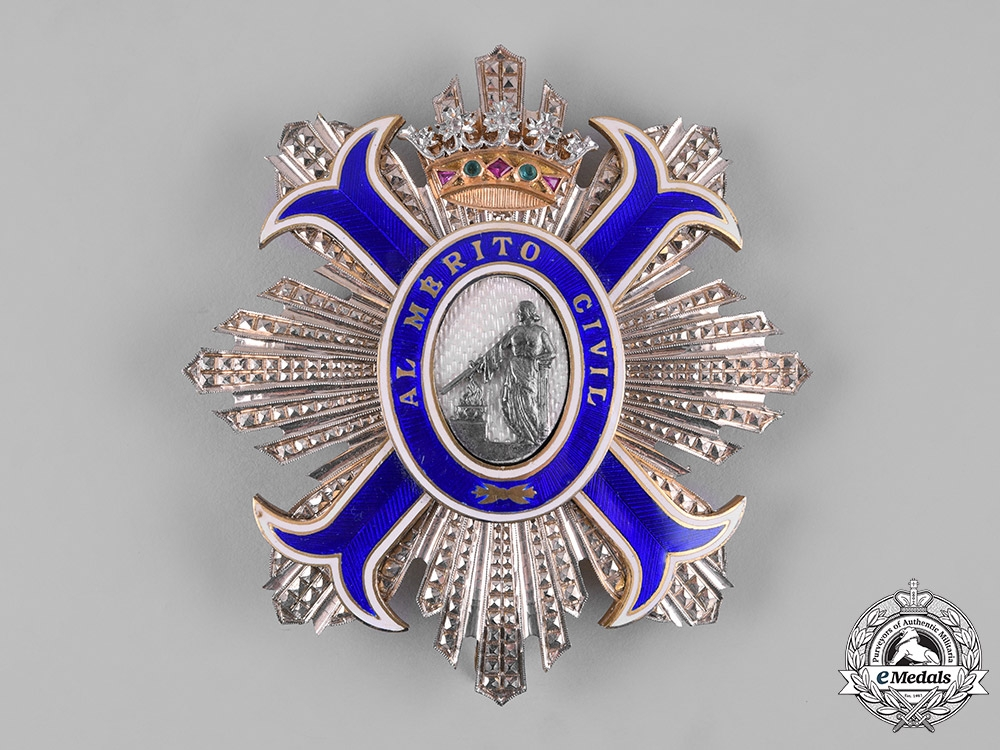 Spain, Franco Period. An Order of Civil Merit with Brilliance, Grand Cross Star, c.1940