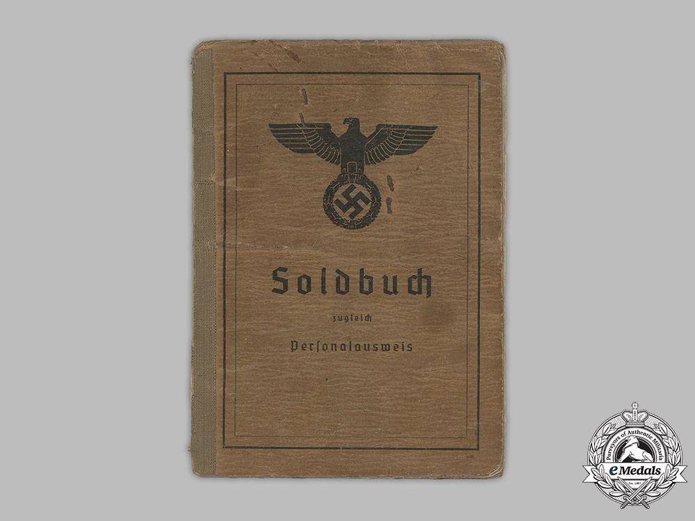 Germany, Heer. A Soldbuch to Obergefreiten Erich Schmidt, 641st Heavy Artillery Company