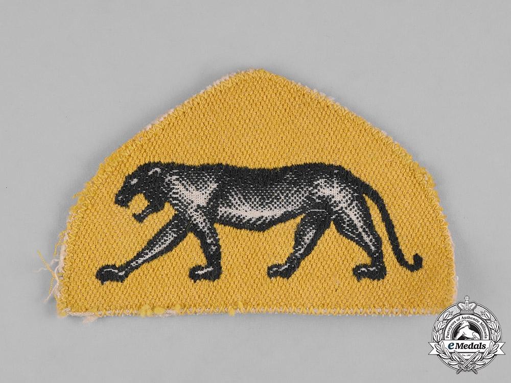 Poland, Republic.A 14th Wielkopolski Independent Armoured Brigade Sleeve Badge, c.1945