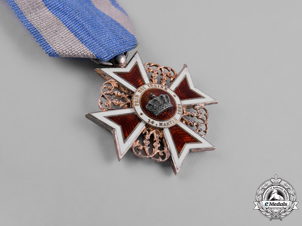 Romania, Kingdom. An Order of the Crown of Romania, V Class Knight, Civil Division, c,1910