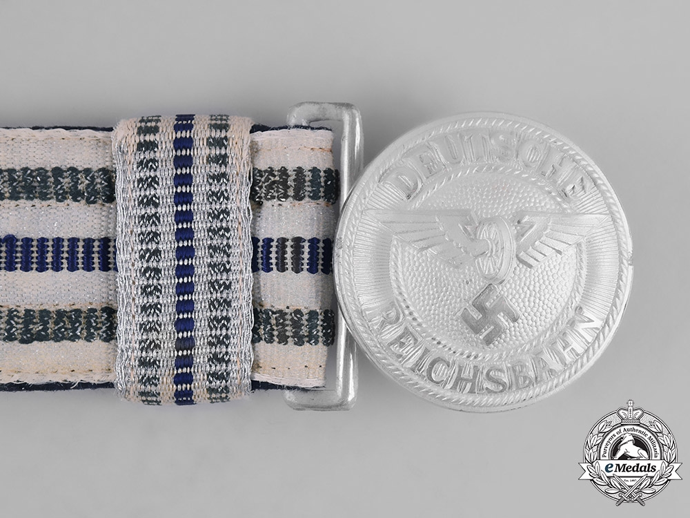 Germany, Reichsbahn. A Railway Police Leader's Brocade Dress Belt and Buckle, by Assmann