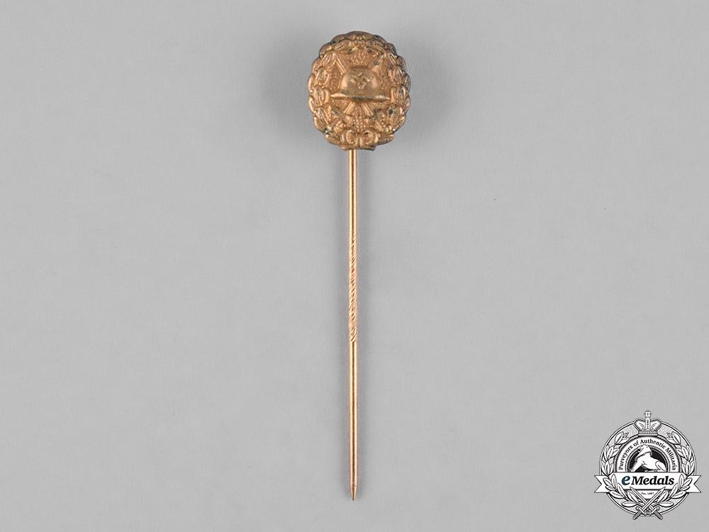 Germany, Wehrmacht. A Wound Badge Stickpin, Gold Grade, Condor Legion
