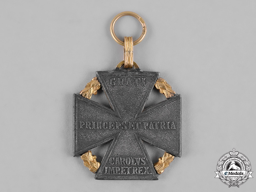 Austria, Imperial. A Karl Troop Cross, Private Purchase with Gold Laurels