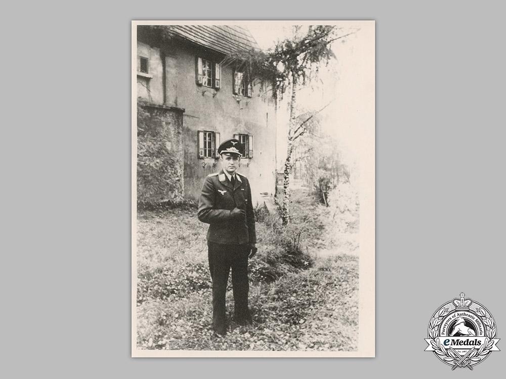 Germany, Luftwaffe. The Documents, Medals, & Insignia to Flieger-Stabsingenieur Johannes Heinzel