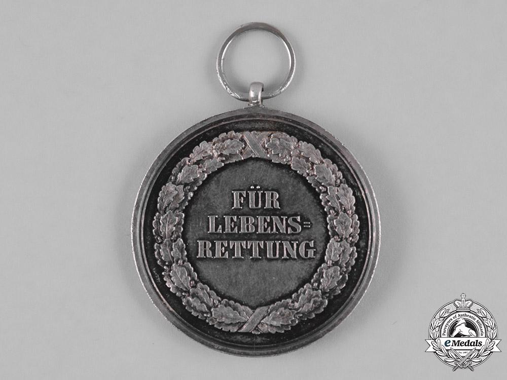 Saxony, Kingdom. A Silver Life Saving Medal, c.1910