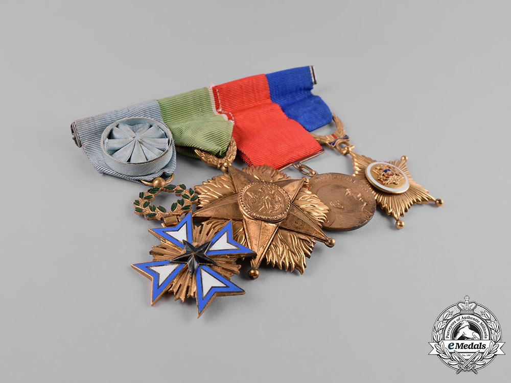 France, Republic. A French, Italian, Nicaraguan, and Chilean Medal Bar