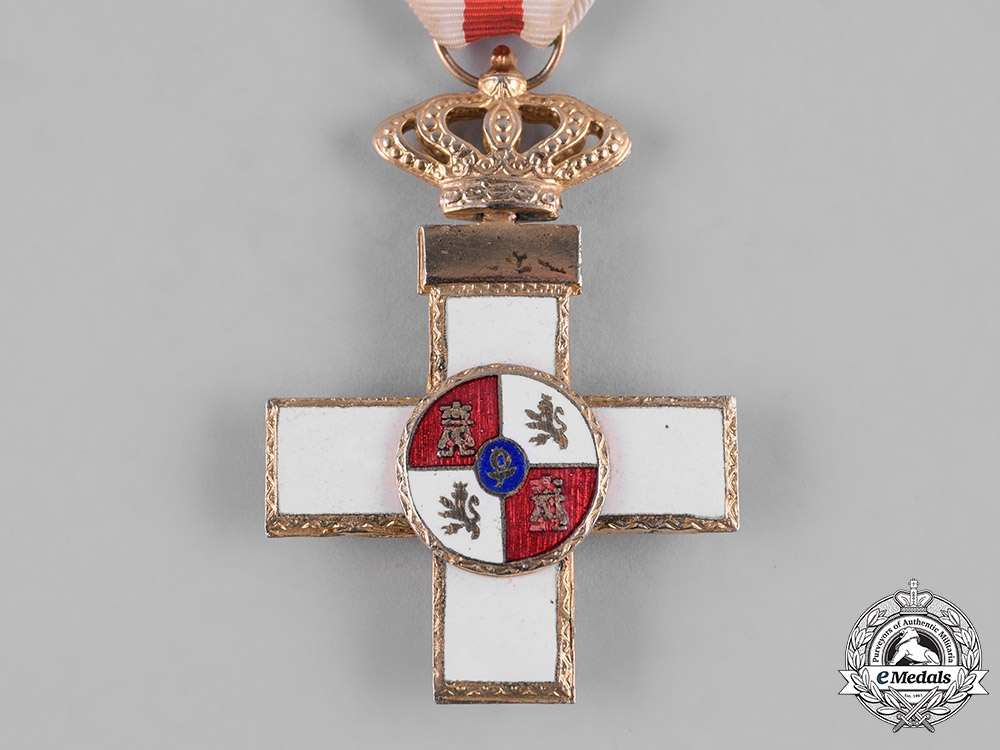 Spain, Kingdom. An Order of Military Merit, Cross with White Distinction, Type VII, c.1975