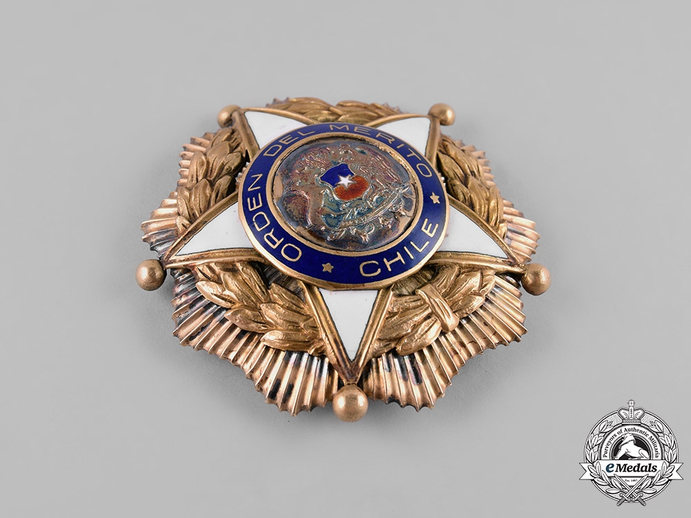 Chile, Republic. An Order of Merit, Grand Cross Star, c. 1950