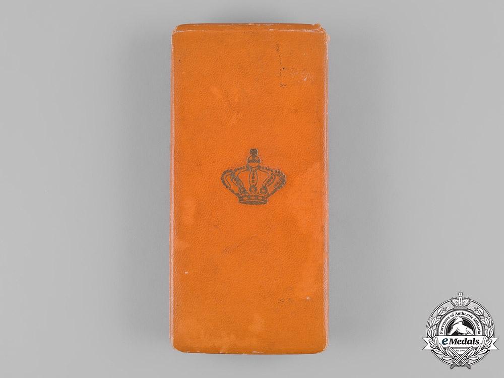 Netherlands, Kingdom. An Order of Orange-Nassau, IV Class Officer Case, Named