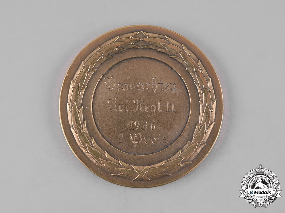 Germany, Third Reich. A MG Proficiency First Place Table Medal, c.1936