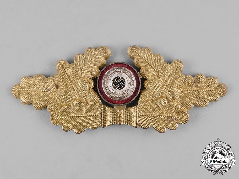 Germany, NSDAP. A Political Visor Cap Wreath Insignia, by Dr. Franke & Co. K.G.