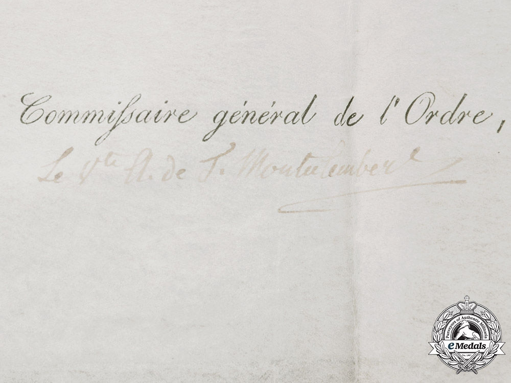 Germany, Hohenlohe. An Award Document for the House Order of the Phoenix, 1816