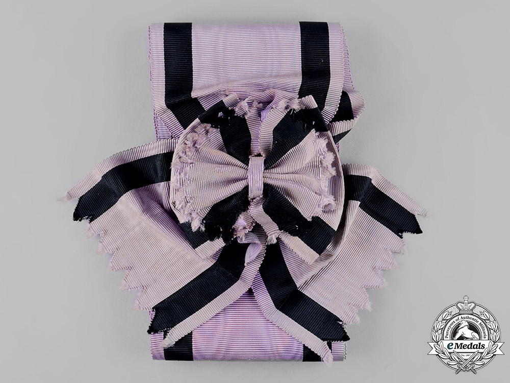 Spain, Kingdom. An Order of Charity with Purple and Black Distinction, Grand Cross Sash