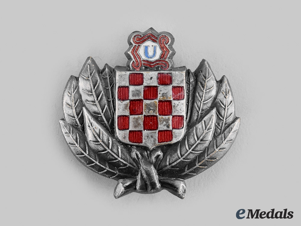 Croatia, Independent State. A Ustasha Treasure Guard Badge