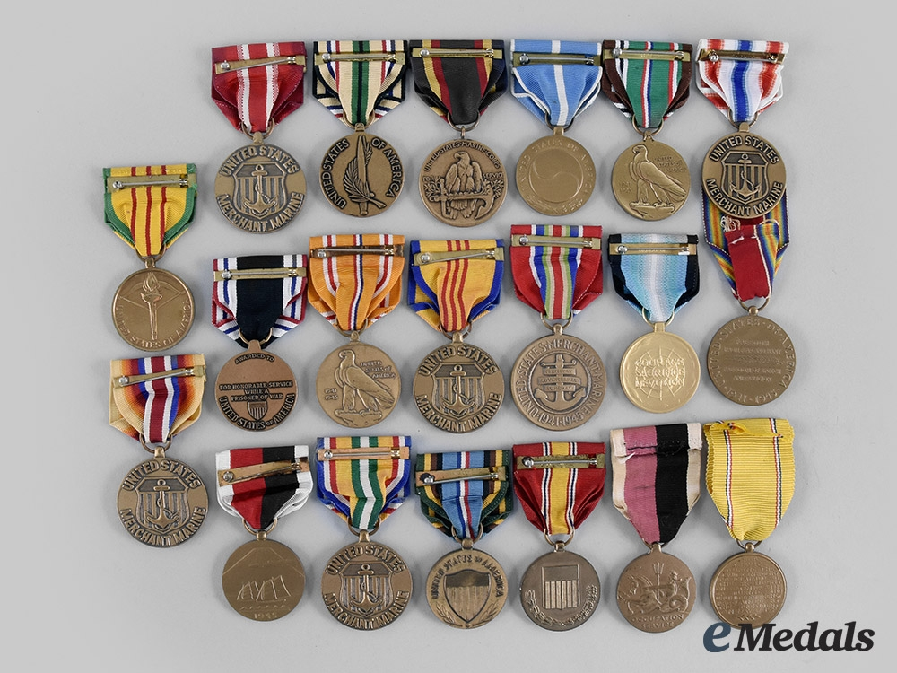 United States. A Lot of Twenty Campaign and Service Medals