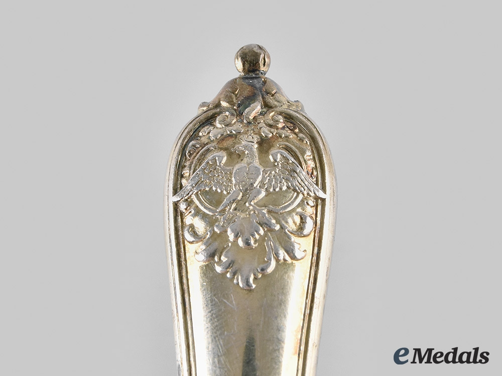Germany, Imperial. A Kaiser Wilhelm II Silver Table Knife by D. Vollgold & Sohn