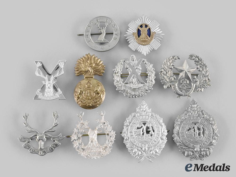 United Kingdom. A Lot of Ten Glengarry Badges
