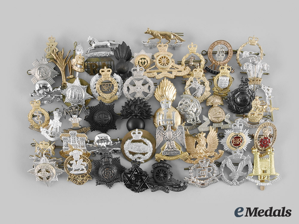 United Kingdom. A Lot of Forty-Eight ERII Quality-Made Regimental Badges